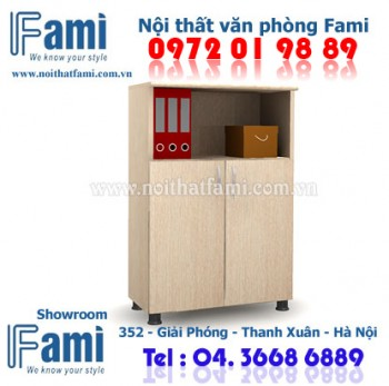 Tủ trung Fami cánh lửng SM7130FH_PO - Nội thất văn phòng