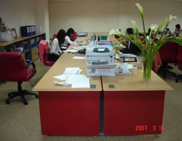 khu làm việc văn phòng
